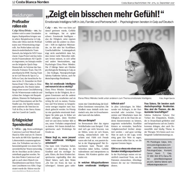 articulo en aleman